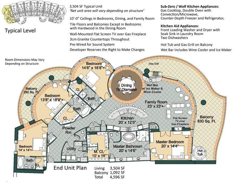 Beach Resort Floor Plans | Turquoise Place Floor Plans | Floor Plan ...
