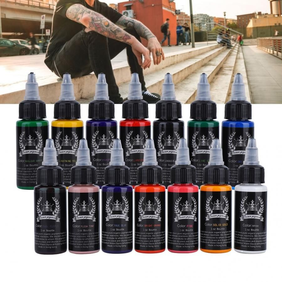 30ml/Bottle 14 Colors Professional Tattoo Makeup Ink