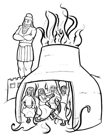 The Fiery Furnace Coloring Page Bible Coloring Pages Sunday