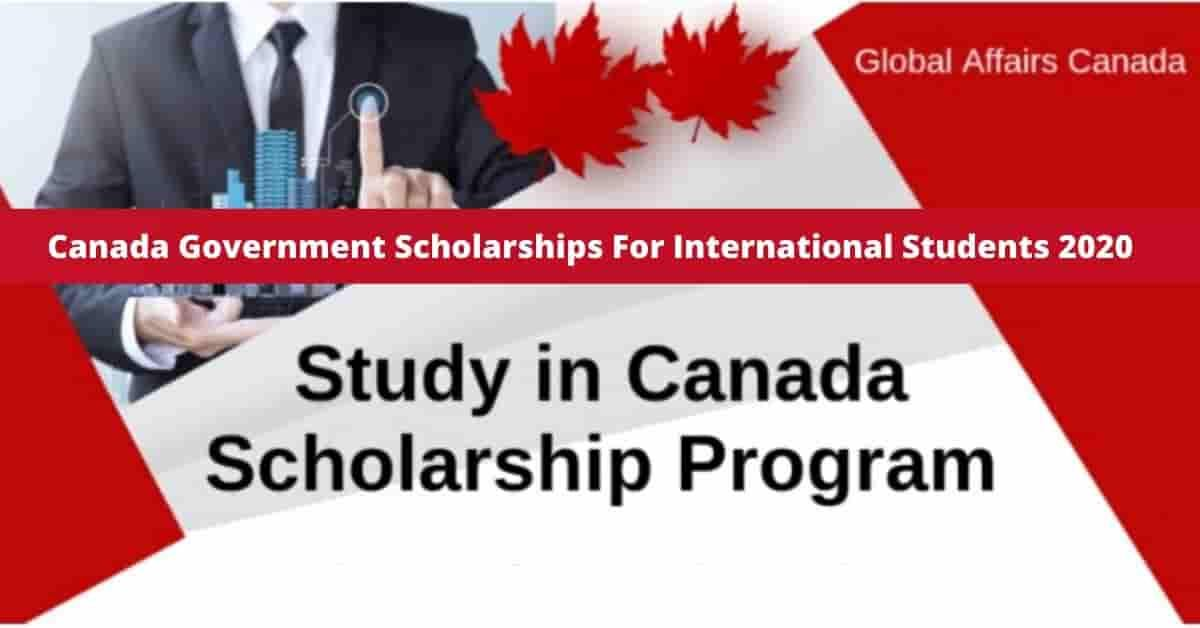 Canada Government Scholarships For International Students 2020