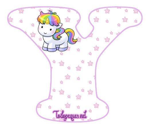 unicornios letras abecedario para imprimir gratis todo peques abc pinterest unicorns and alphabet letters