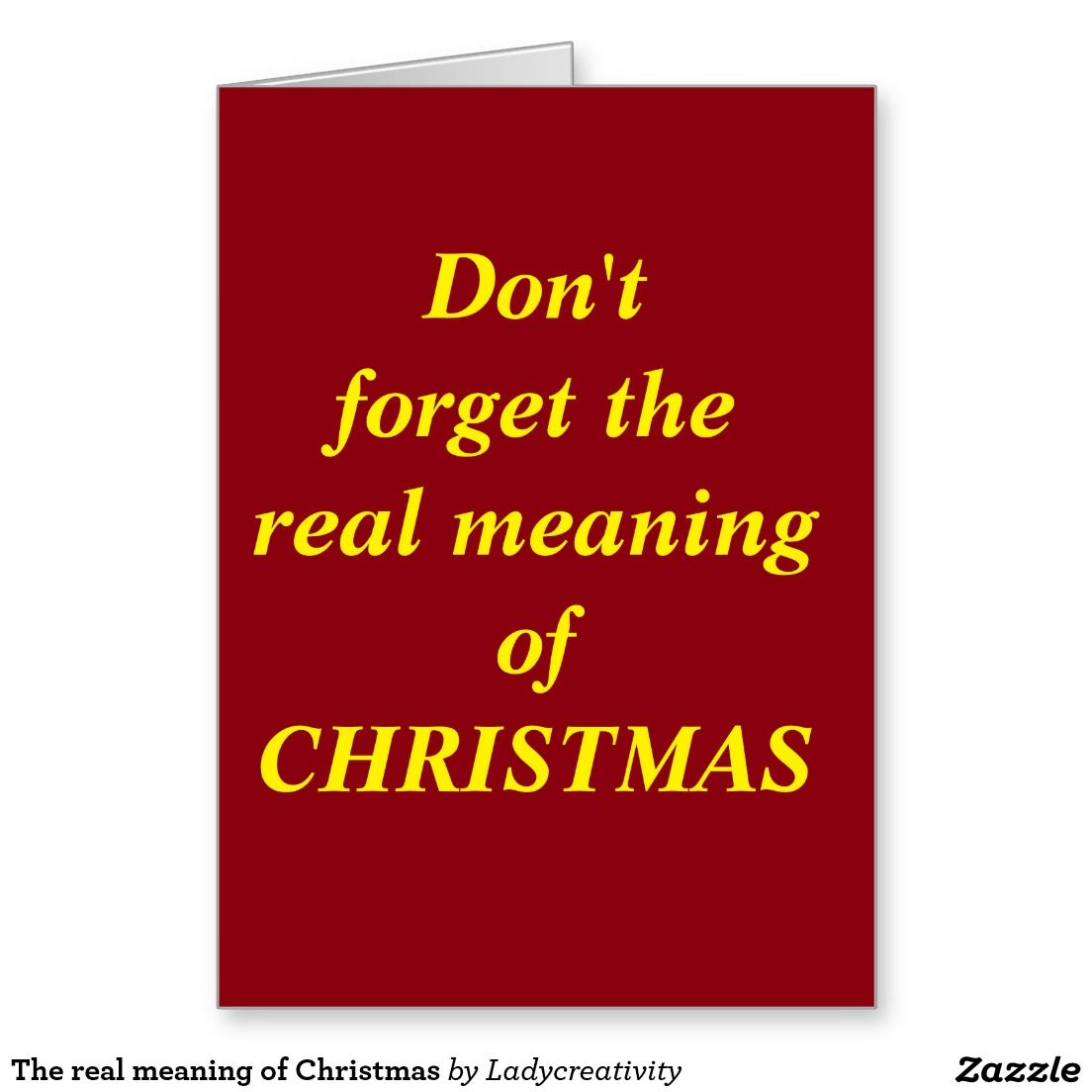 The real meaning of christmas greeting card greeting cards all the real meaning of christmas greeting card m4hsunfo
