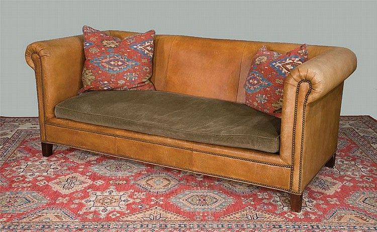 Beau Lot 283: Henredon Chesterfield Style Leather Sofa By Ralph Lauren With |  750 Xu2026