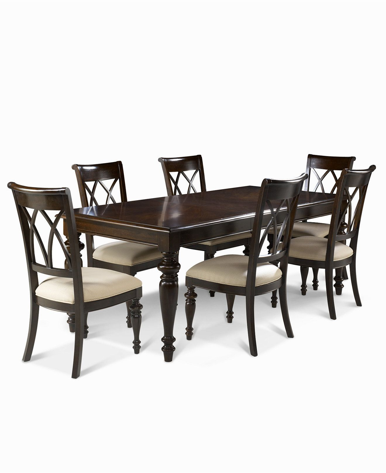 Bradford 7 Piece Dining Room Furniture Set Table 6 Side Chairs Shop All Dini Dining Room Furniture Sets Dining Furniture Makeover Rustic Dining Furniture