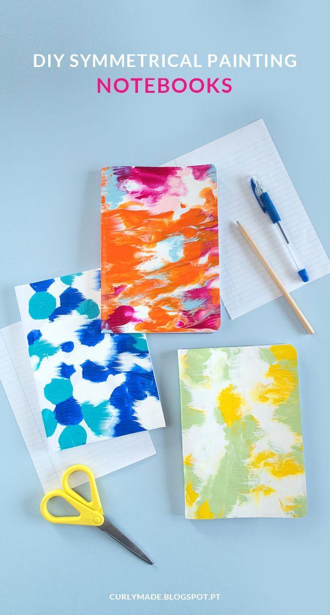 Diy Symmetrical Painting Notebooks Diy Crafts Diy Crafts Diy