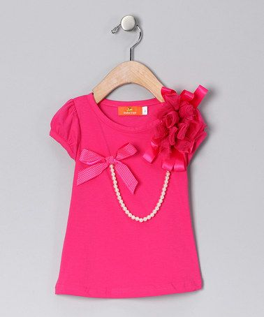 Take a look at this Hot Pink Pearl Top - Infant, Toddler & Girls by Dolce Liya on #zulily today!