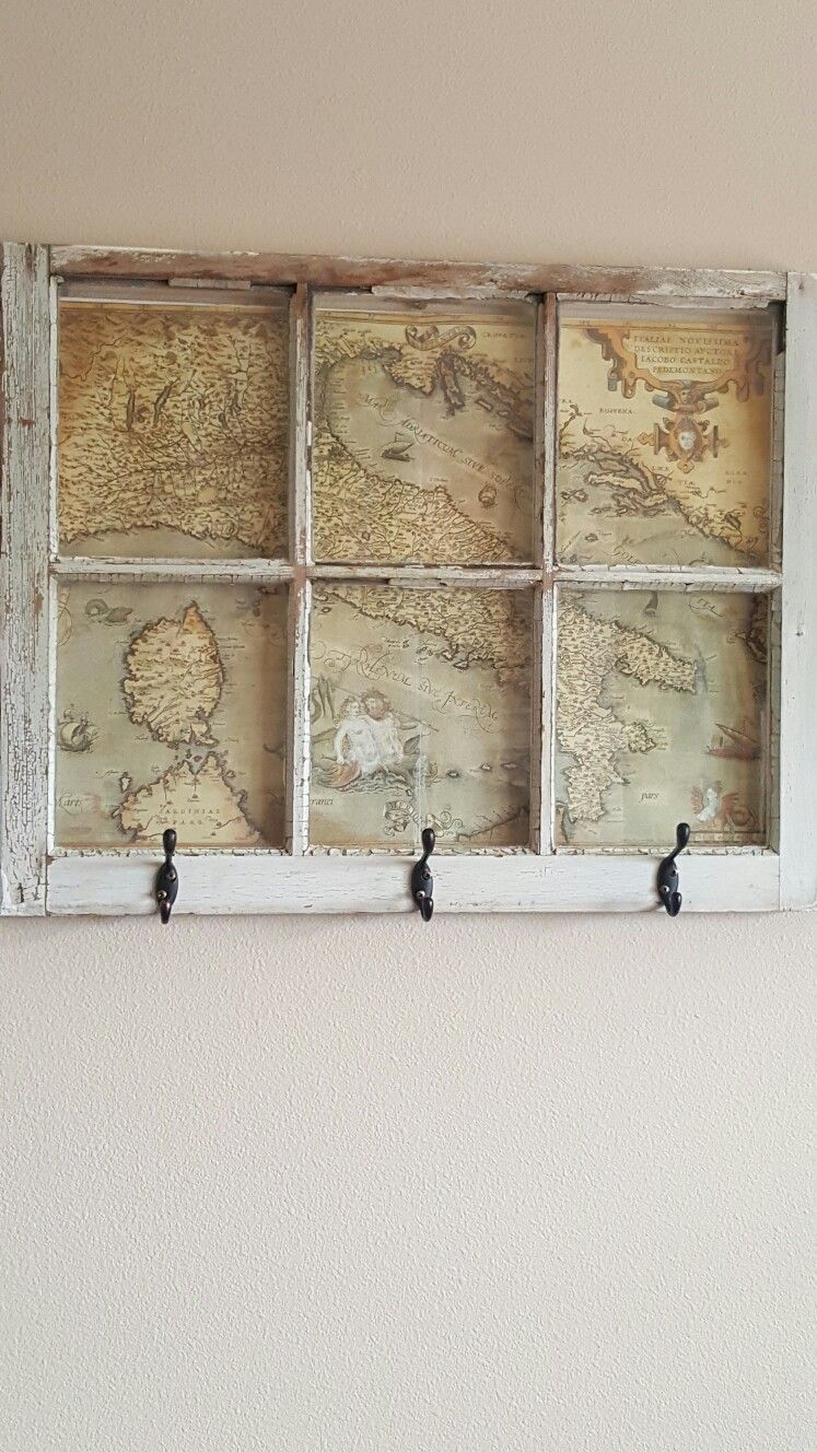 Diy Coat Rack Use An Old Window And Add In Your Favorite Travel