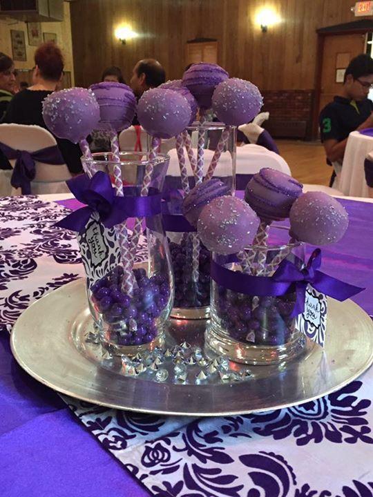 Purple Cake Pops/Edible Arrangements