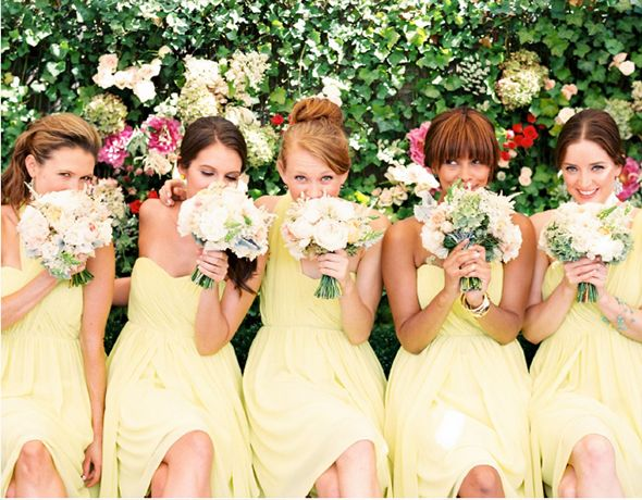 Pastel Yellow Bridesmaid Dresses This Is