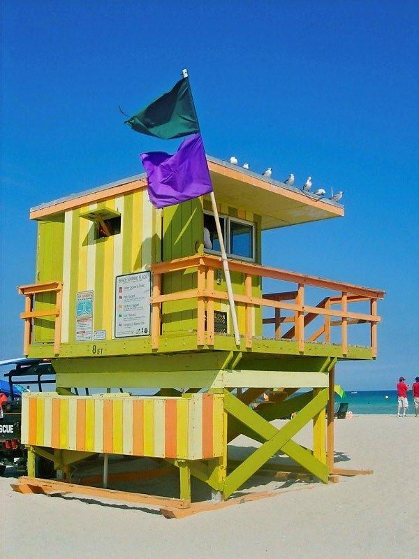 South Beach Lifeguard station in Miami Beach, Florida