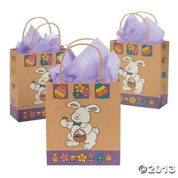 Brown paper easter bunny gift bags pack of 12 read more at these brown paper easter bunny gift bags are perfect for easter gifts cheerful colors and bunnies create adorable designs on these gift bags negle Image collections