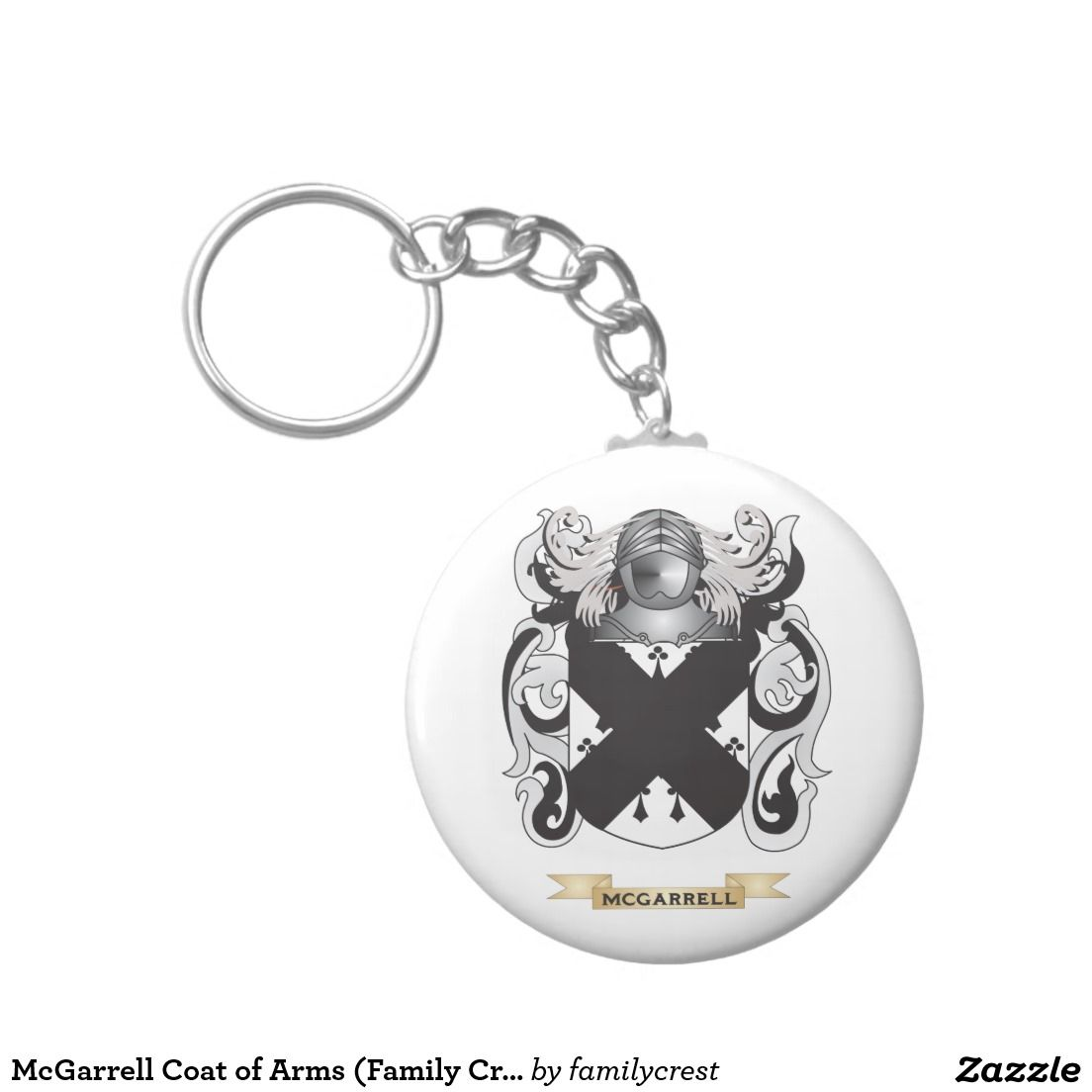 McGarrell Coat of Arms (Family Crest) Basic Round Button Keychain