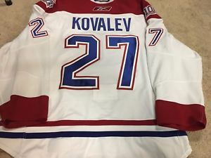 free shipping f3327 d99a8 a alexei kovalev 0809 white montreal canadiens nhl game worn ...