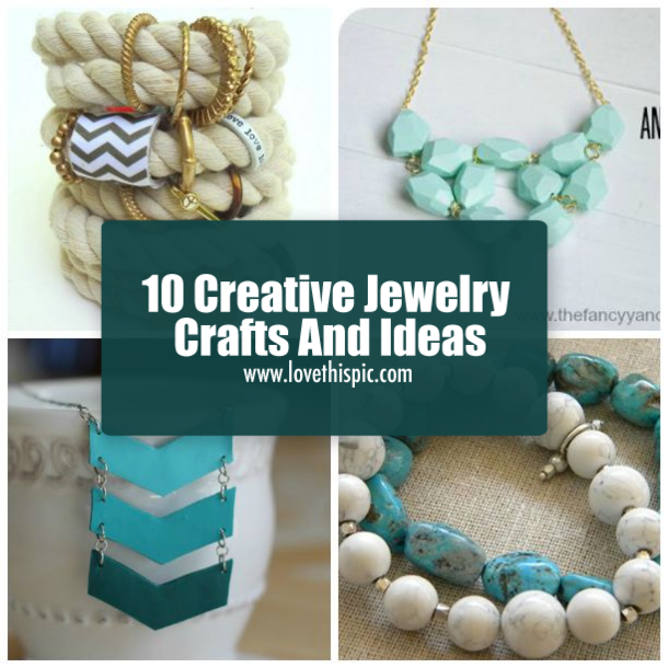 10 creative jewelry crafts and ideas jewelry ideas creative and craft 10 creative jewelry crafts and ideas solutioingenieria Images
