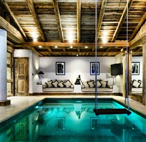I want this in my dream home. The perfect indoor pool ...