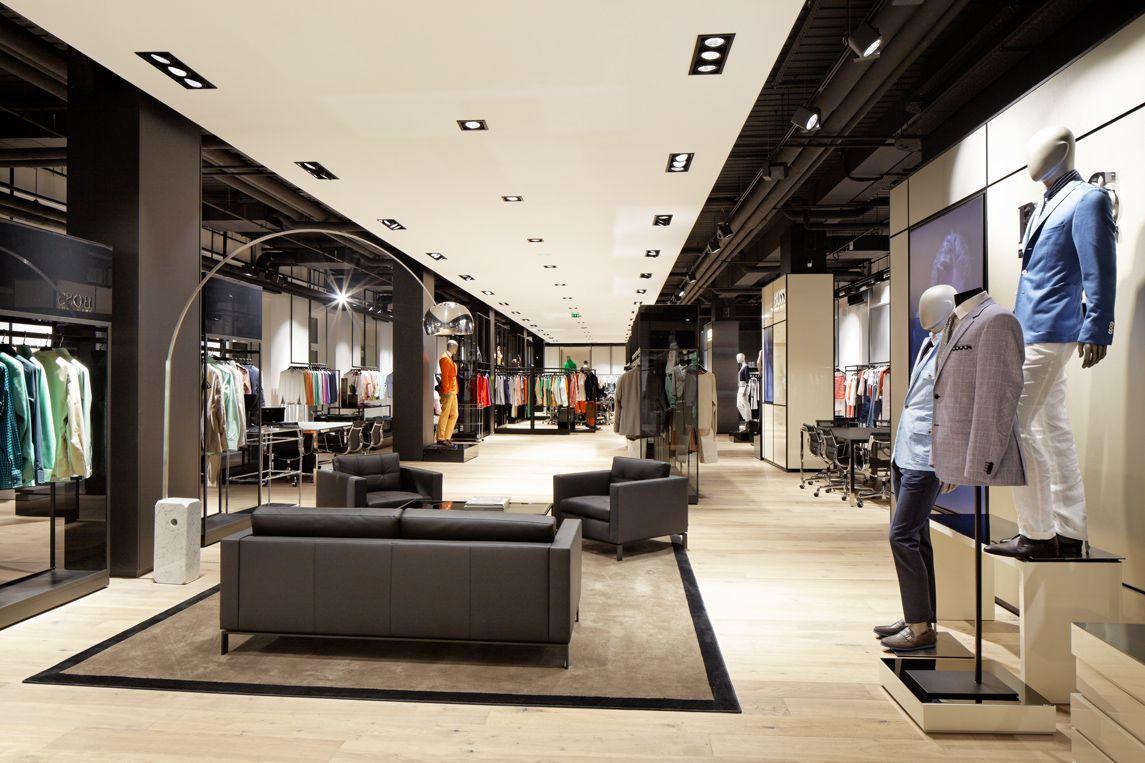 Showroom Hugo Boss Retail Concept Store Paris Interior Photography Hugo Hebrard Photographer Architecture Architecture Interieure Architecture Commerciale