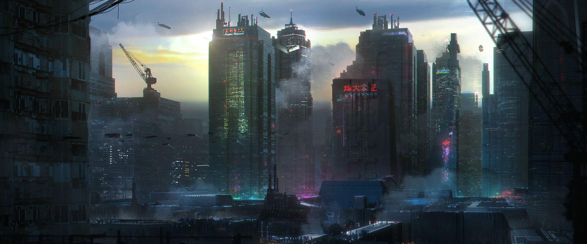 Cyberpunk practice Cyberpunk, Cyberpunk city, Sci fi city