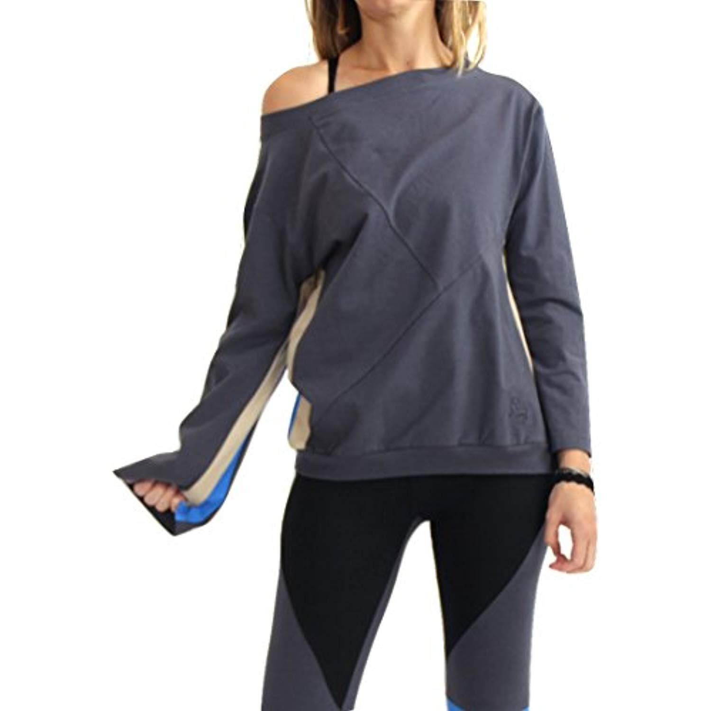 70e108cba Prancing Leopard Womens Organic Cotton Sweatshirt Casablanca - Boatneck