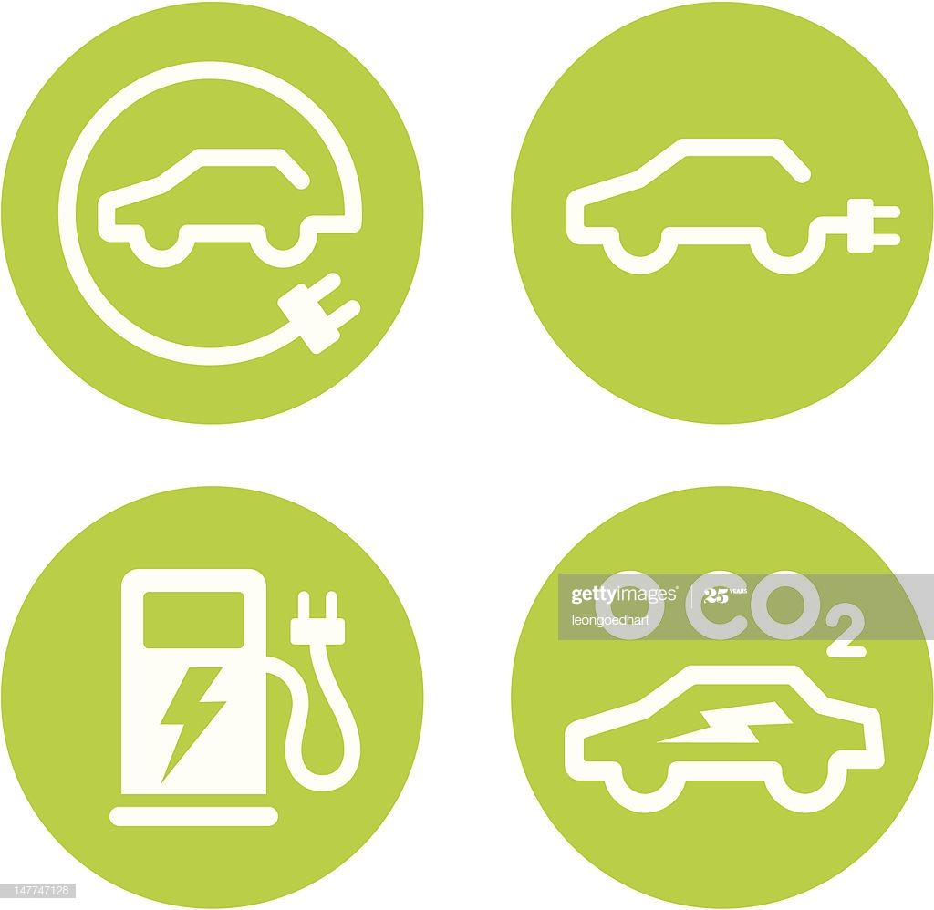 Series Of Four Vector Icons For Electric Cars And Ev Charging Points Electric Car Charging Electric Car Vehicle Signage [ 998 x 1024 Pixel ]