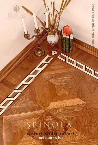 The Spinola Hardwood Floor Border Inlay Manufactured By Pavex Parquet Http Www Pavexpar Hardwood Floor Colors Floor Tile Design Installing Hardwood Floors