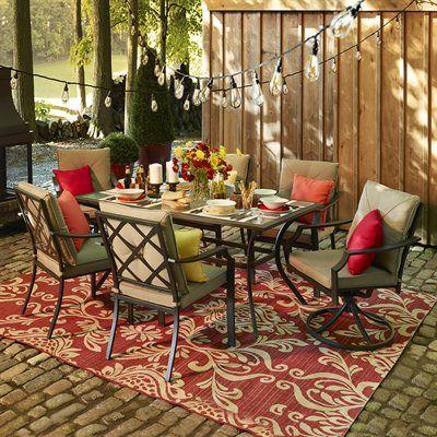 Garden Treasures Vinehaven 7 Piece Dining Set Patio Furniture