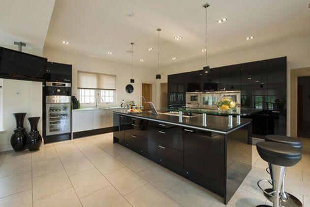 Cocinas negras 50 cocinas elegantes, modernasu2026 únicas - cocinas elegantes