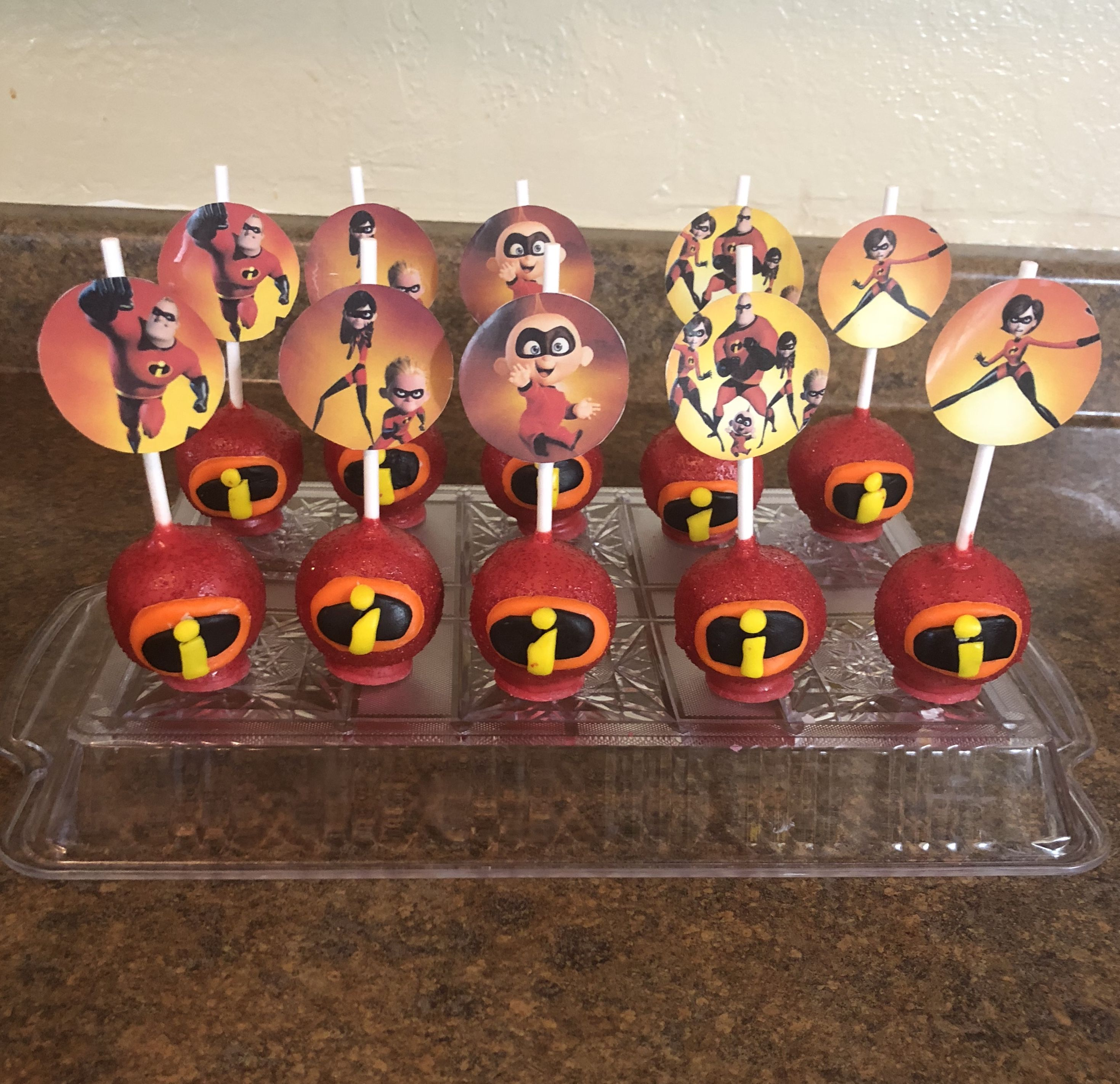 The Incredibles Cake Pops