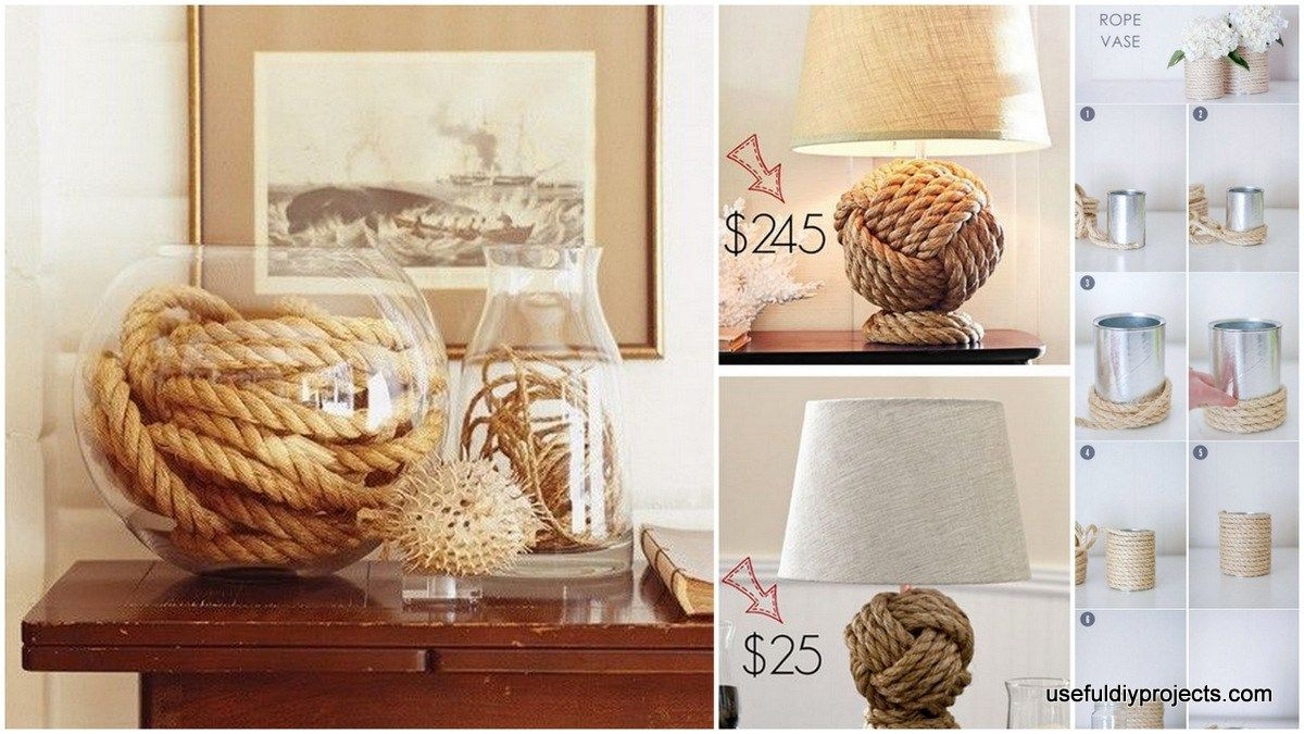 16 nautical rope diy crafts with a perfect twists do it yourself 16 nautical rope diy crafts with a perfect solutioingenieria Image collections
