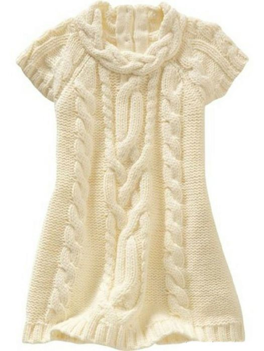 vestidos para niña tejidos en agujas - Buscar con Google | tejido ...
