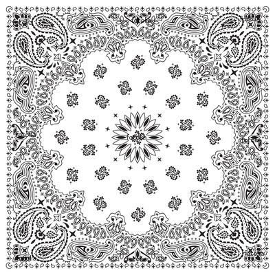 Paisley Design Coloring Pages Animals Photo Bandana White