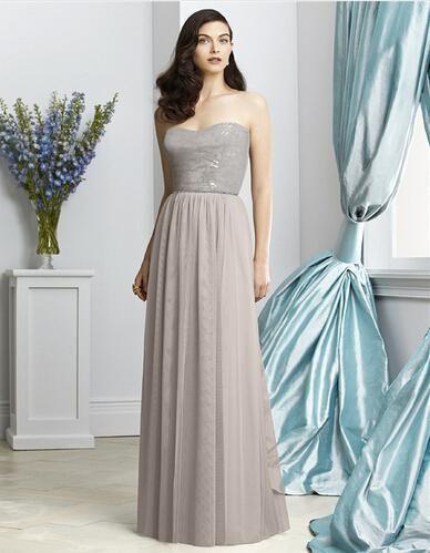 Gray sequined Long Plus Size Elie Saab Bridesmaid Dress 2015 Elegant ...