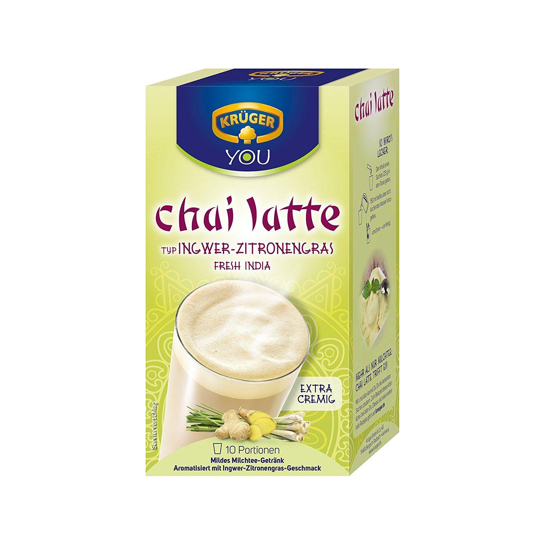 Kruger Ginger Lemon Grass Instant Chai Latte 10 Count