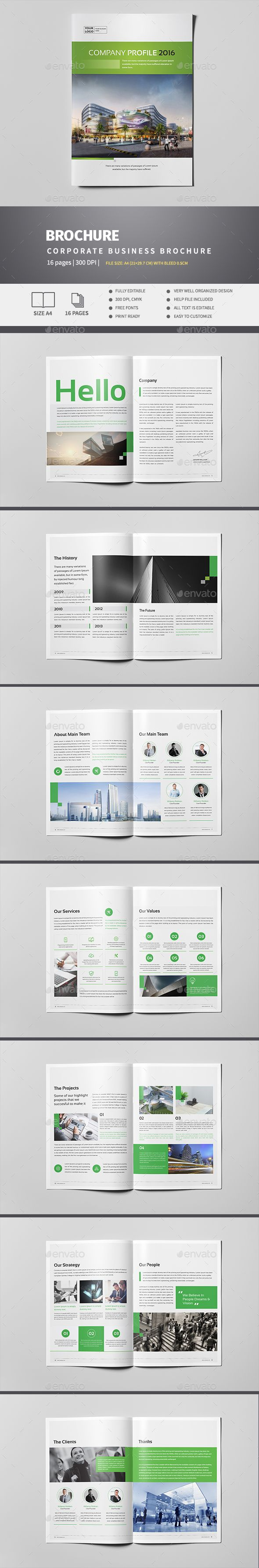 Company Profile Pages Pinterest Company Profile Brochure - Company profile brochure template