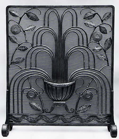 "The Metropolitan Museum of Art - ""La Fontaine"" (""The Fountain"") Fire Screen"