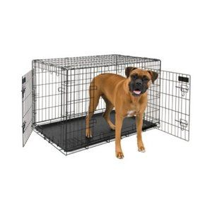 Petmate 2 Door Training Retreat Wire Kennel Walmart Com Pet Mat Large Dog Crate Wire Dog Crates