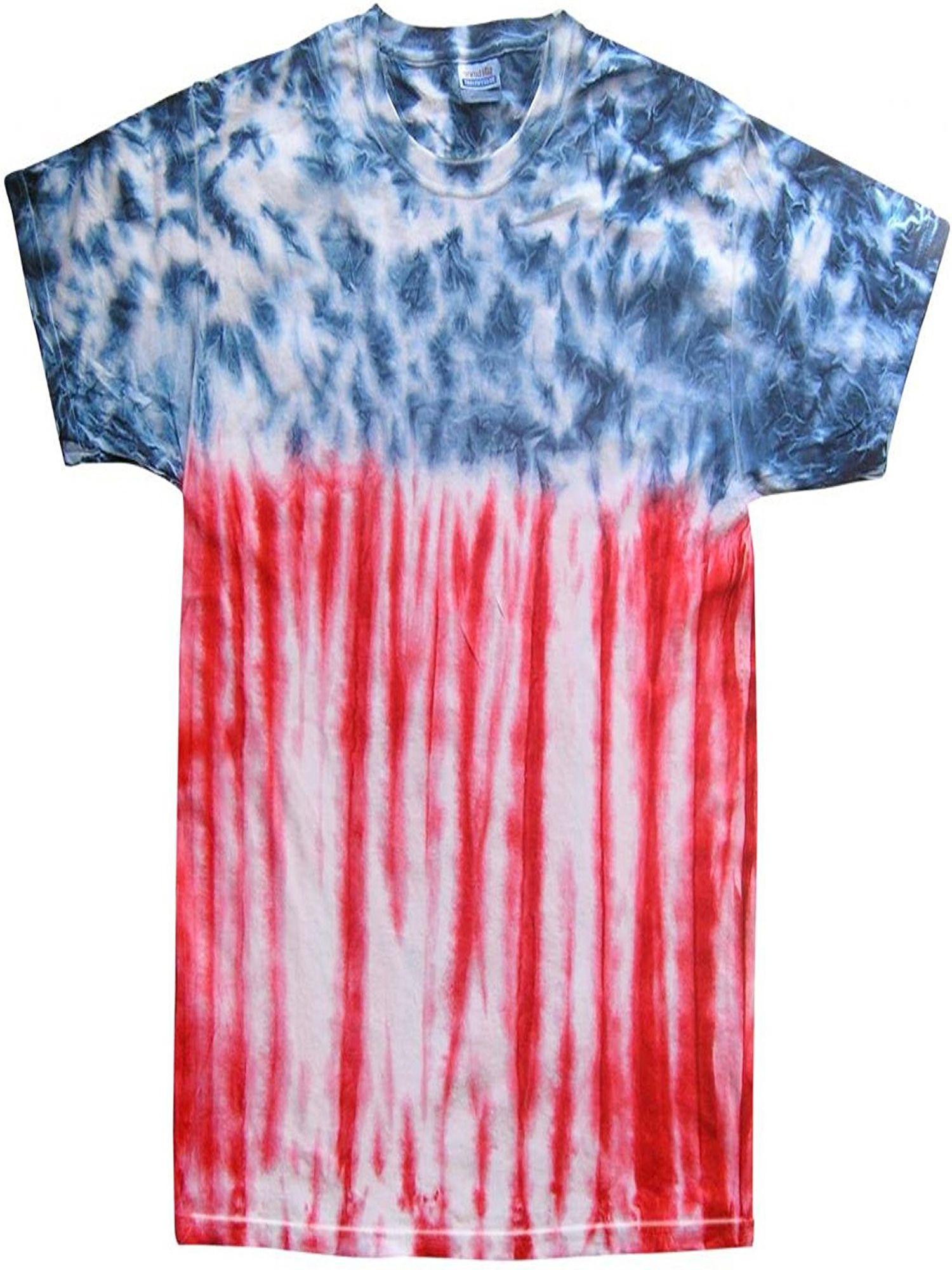 Buy Cool Shirts Mens Patriotic Flag Tie Dye Flag T Shirt Medium Walmart Com In 2020 Tie Dye Shirts How To Tie Dye Tye Dye Shirts