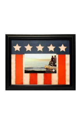 New View  American Flag 4x6 Frame