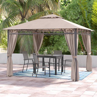 Symple Stuff Hartl 10 Ft W X 10 Ft D Metal Patio Gazebo Patio Gazebo Patio Gazebo