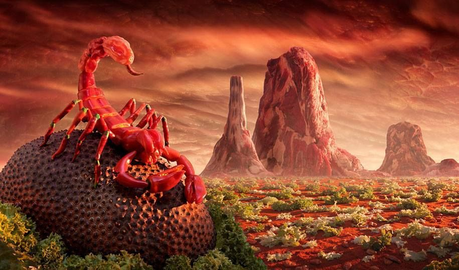 Surreal Landscapes Made From Food.