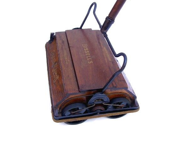 antique bissell sweeper vintage vacuum advertising oak grand rapids carpet rug floor cleaner works looks - Bissell Sweeper