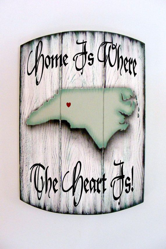 Personalized North Carolina Home Sign All 50 by ASignOfWonder, $42.95