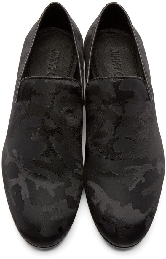 Choo Black Camouflage Men Sloane LoafersCamo Jimmy For WY2ED9HI