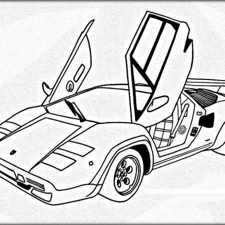 Free car coloring pages lambhini