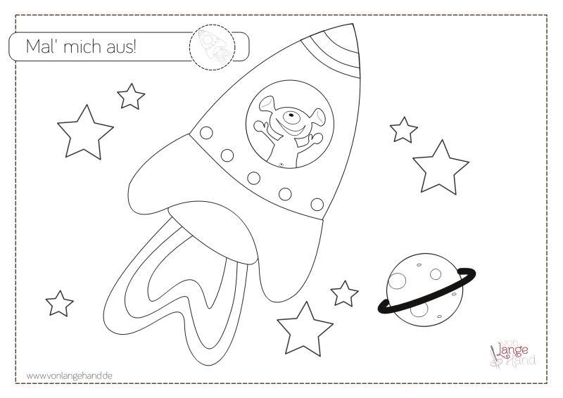 Freebie Malvorlage Rakete Fur Den Astronauten Von Lange Hand Malvorlagen Vorlagen Astronauten