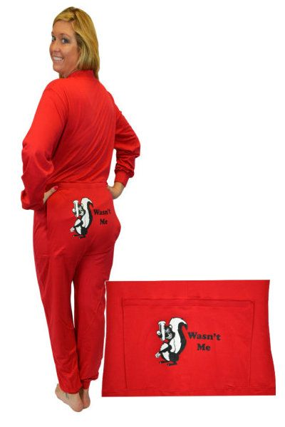 cc97a83f0f Big Feet Pajamas red onesie union suit has funny butt flap with
