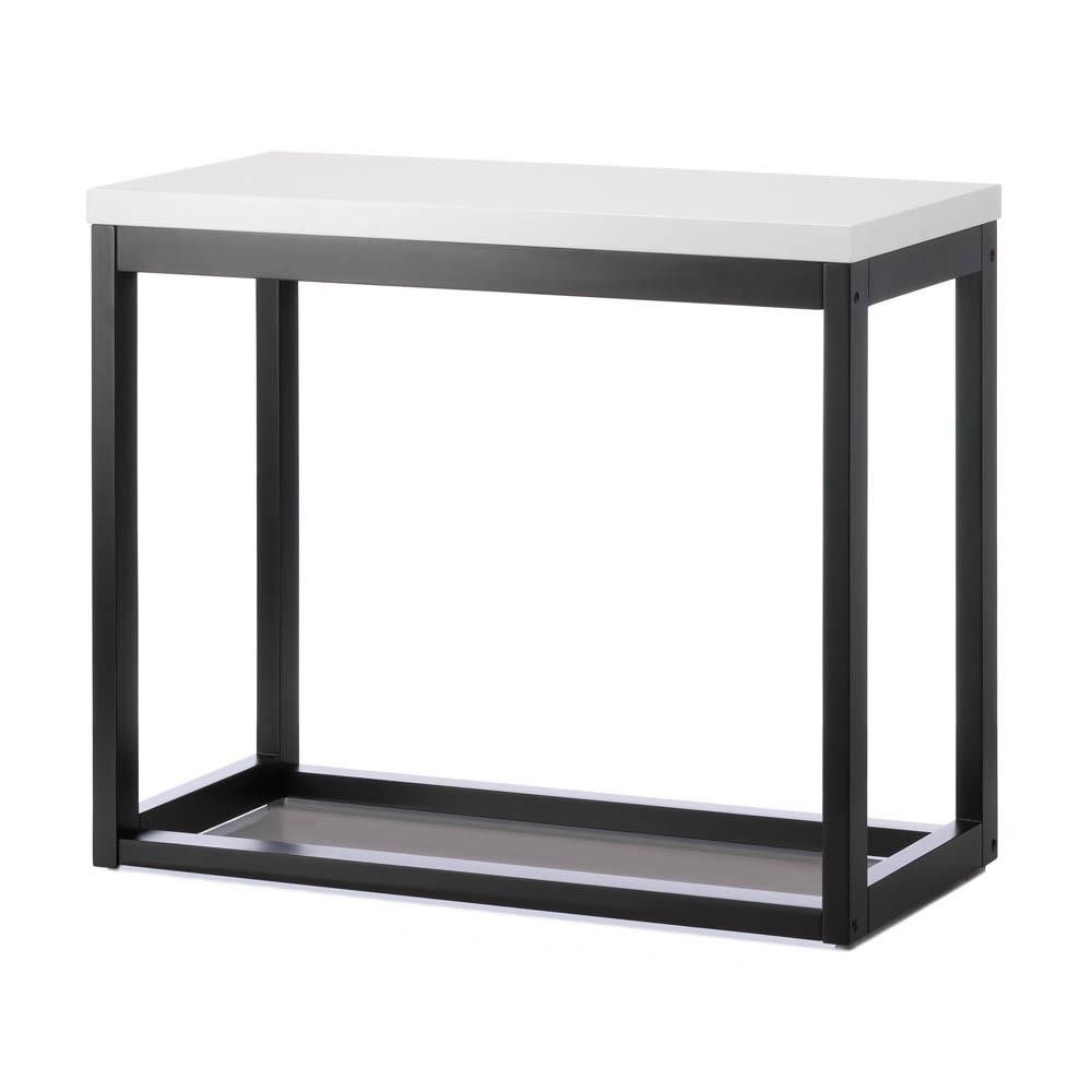 Modern Black Frame Long Table Modern End Tables Modern Console Tables Black Side Table