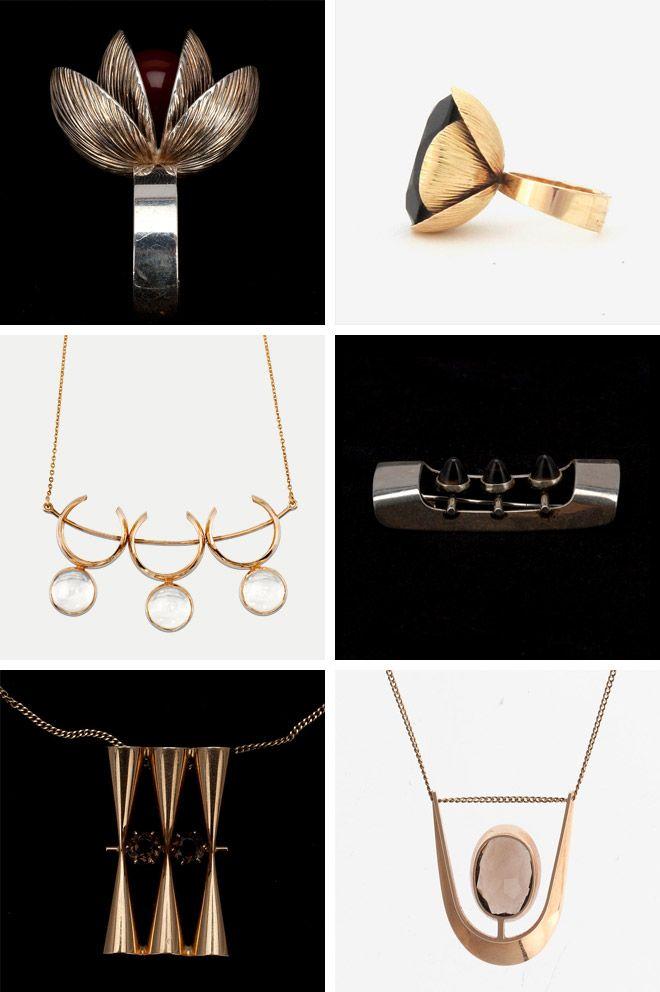 Elis Kauppi jewelry, Finnish modernist designer from the 20's
