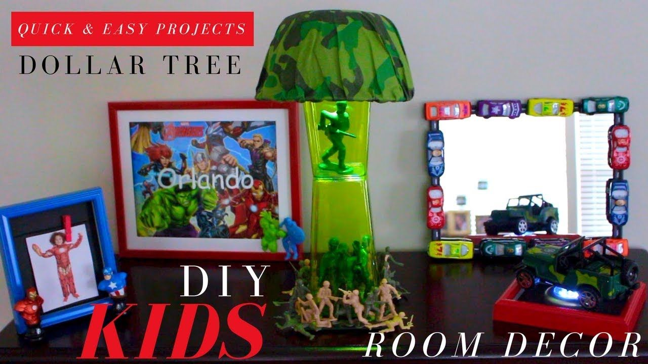 DOLLAR TREE DIY BOYS ROOM DECOR | | DIY MARVEL DECOR | DIY LAMP