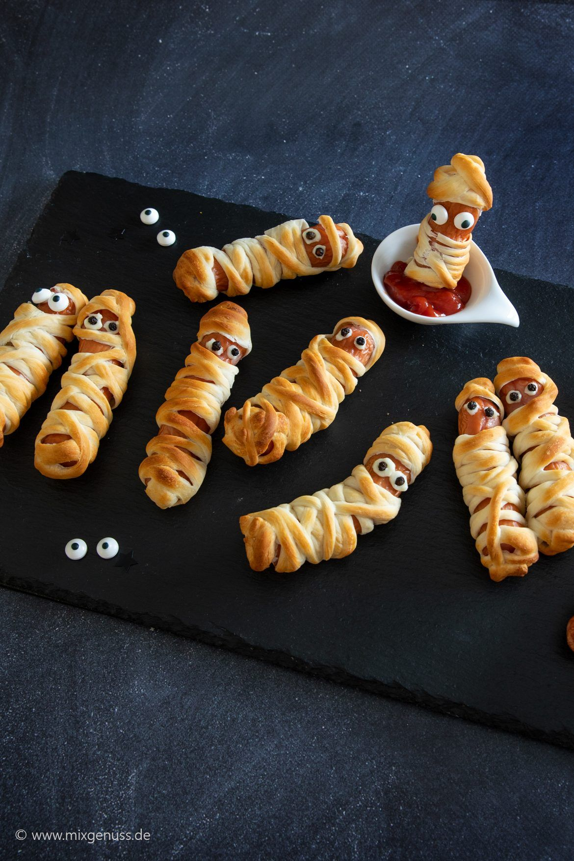 Halloween Mumien Rezept Fingerfood, Halloween