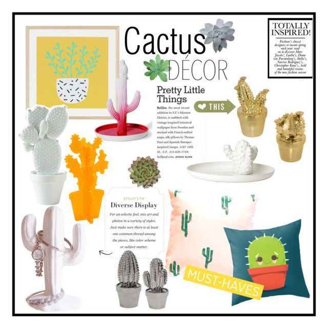 """""""Cactus Decor"""" by chakragoddess ❤ liked on Polyvore"""